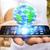 携帯電話 · 世界 · 世界中 · 孤立した · 白 - ストックフォト © sdecoret