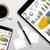 grafikon · diagram · képernyő · digitális · tabletta · laptop - stock fotó © sdecoret