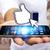 férfi · kéz · okostelefon · közösségi · háló · üzlet · hálózatok - stock fotó © sdecoret