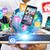 zakenman · tech · hand · computer - stockfoto © sdecoret