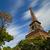 Эйфелева · башня · закат · Париж · Франция · небе · здании - Сток-фото © sdecoret