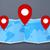 ピン · 地図 · コピースペース · 旅行 · コンセプト - ストックフォト © sdecoret