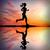 silhouet · atleet · runner · lopen · zonsondergang · actief - stockfoto © sdecoret