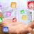 プログラマ · 男 · ノートパソコン · ネットワーク · アプリケーション · インターネット - ストックフォト © sdecoret