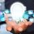 男 · 電球 · ハイテク · ビジネス · 背景 - ストックフォト © sdecoret