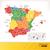 bayrak · İspanya · harita · ülke · haritaları · düğme - stok fotoğraf © selenamay