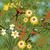 botanikus · kert · madarak · vektor · végtelen · minta · virágmintás · kicsi - stock fotó © selenamay
