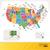 színes · USA · térkép · fővárosok · számítógép · háttér - stock fotó © selenamay