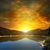 sunrise over lake and mountains stock photo © serg64