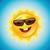 cute · sole · occhiali · da · sole · mano · occhi · faccia - foto d'archivio © sgursozlu