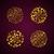 ouro · mandala · conjunto · preto · étnico · vintage - foto stock © sgursozlu