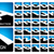 Blauw · zwarte · magenta · vierkante · brief - stockfoto © sgursozlu