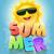 gelukkig · zon · zonnebril · vrolijk · cartoon · bril - stockfoto © sgursozlu