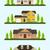 コロニアル · 家 · 詳しい · 実例 · 農村 · 建物 - ストックフォト © shai_halud