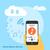 nuage · image · technologie · serveur · bleu - photo stock © shai_halud