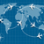 vlucht · kaart · foto · wereldkaart · vliegen · vliegtuigen - stockfoto © shai_halud
