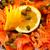 fresco · salmão · peixe · limão · salada · folhas - foto stock © shamtor