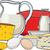 ürünleri · pişirme · kahvaltı · süt · sahanda · yumurta · sosis - stok fotoğraf © sharpner