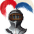 steel helmet with feathers stock photo © sharpner
