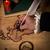 pen · kandelaar · antieke · messing · Rood · boek - stockfoto © sharpner