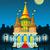 фантазий · вектора · замок · лунный · свет · небе · силуэта - Сток-фото © sharpner