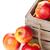 fraîches · pommes · bois · boîte · isolé · blanche - photo stock © shawnhempel