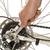 man · wiel · fiets · witte - stockfoto © shawnhempel