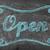 open chalk writing on chalkboard stock photo © shawnhempel
