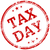 tax day red rubber stamp stock photo © shawnhempel