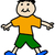 simple child stickman illustration drawing of boy in t shirt and stock photo © shawnhempel