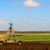 Agriculture Ploughed field with irrigation equipment stock photo © sherjaca