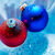 frozen ice balls decoration on winter background stock photo © shevtsovy