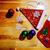 christmas socks and santa hat with balls snowflakes stock photo © shevtsovy