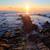 Beautiful sunrise over Cretaceous sedimentary rock coastline stock photo © shihina