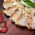 étvágygerjesztő · sült · darabok · disznóhús · gomba · mártás - stock fotó © shivanetua