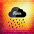 Retro styled autumn rain cloud design card stock photo © sidmay