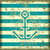 Anchor on a striped background stock photo © Silanti