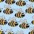 funny · pszczół · bezszwowy · kwiat · baby · tle - zdjęcia stock © silanti