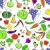 野菜 · フルーツ · 白 · フォーム · シームレス · テクスチャ - ストックフォト © Silanti