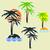diferente · palma · palmeiras · forma · adesivos · conjunto - foto stock © Silanti