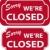 cerrado · signo · vector · compras · rojo - foto stock © simas2