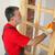 home · werknemer · schilderij · houten · deur - stockfoto © simazoran