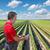 cenoura · jeans · campo · fazenda · grama · saúde - foto stock © simazoran