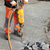 asphalt demolishing worker and jackhammer stock photo © simazoran