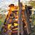 grande · hoguera · ardor · madera · naturaleza · naranja - foto stock © simazoran