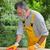 home renovation sanding wooden door stock photo © simazoran