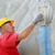wall insulation spreading mortar over mesh stock photo © simazoran