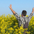 gazda · virágzó · mező · virágzó · gesztikulál · hüvelykujj - stock fotó © simazoran