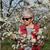 belle · femme · coloré · verger · belle · dame · fleur - photo stock © simazoran