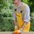 home renovation worker sanding wooden door stock photo © simazoran